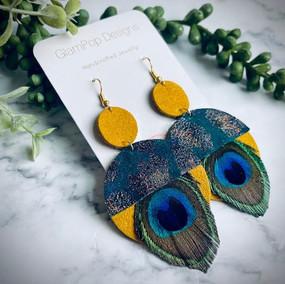 Mod Peacock Earrings