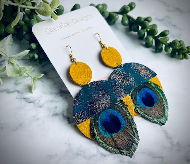Mod Peacock Earrings