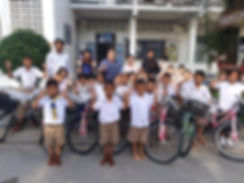 Tiger Kingdom donates bicycles on Children's Day 2019