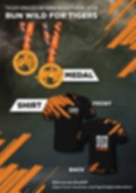 Run Wild For Tigers. Tiger Kingdom Mini Marathon 2018, Medals and Shirts