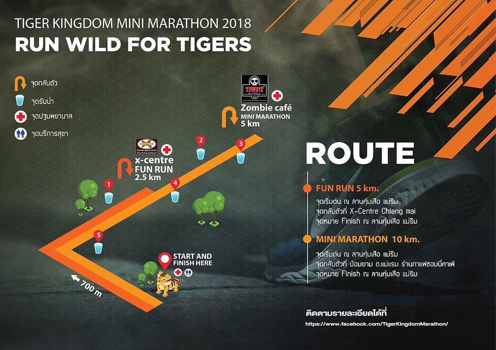 Run Wild For Tigers. Tiger Kingdom Mini Marathon 2018 Route