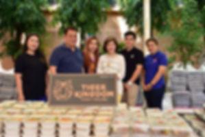 Representatives from Tiger Kingdom Phuket donate food to Vachira Hospital