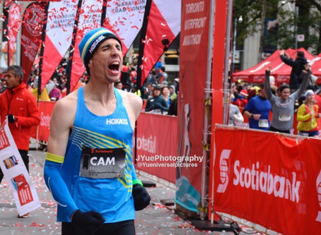 Cam Levins reflects on his marathon debut, the Canadian record, and what it means for his family