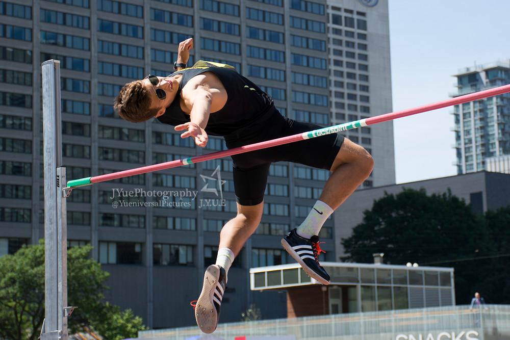 Sean Cate, high jump