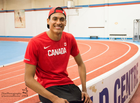 Pierce LePage finds success through path less travelled; works towards consistency in the decathlon