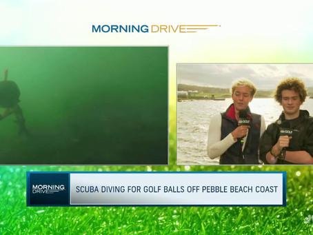 Kids save the ocean picking up golf balls off Pebble Beach