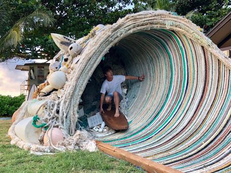 Trash to treasure: Santa Cruz artist gaining national attention for ocean conservation trash art pro