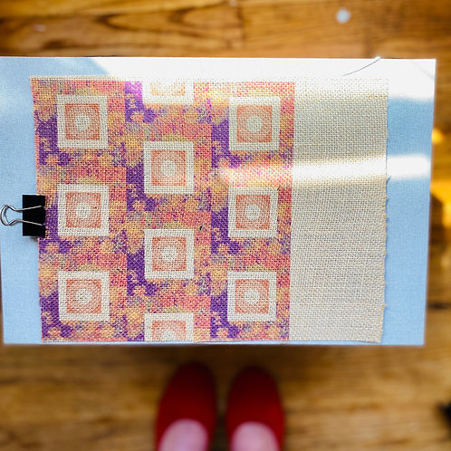 RawLilly Burlap Fabric Poster
