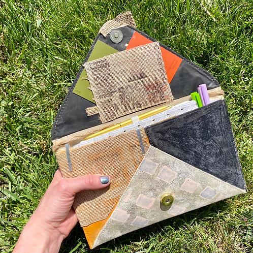 Handmade Willowbark Envelope Sleeve Clutch