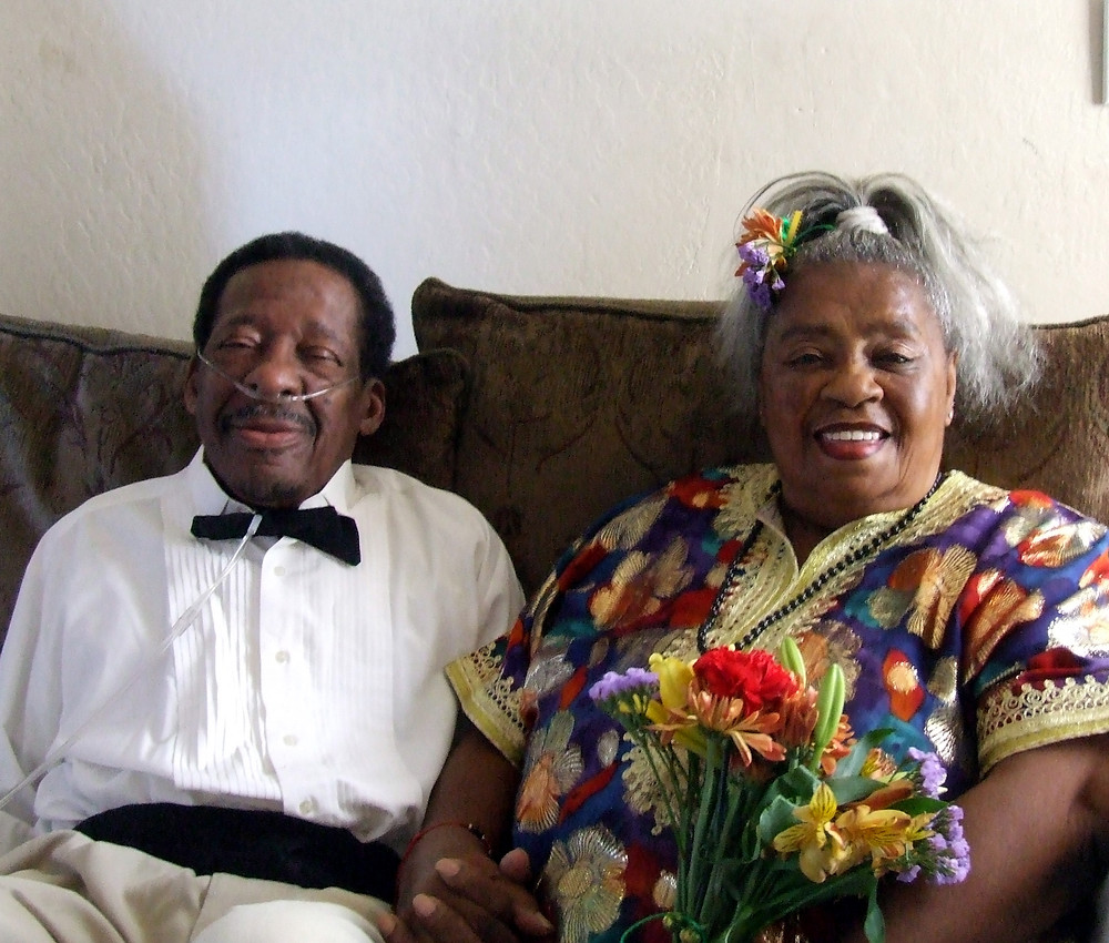 John and Dolores Coleman, together for 34 years but not married until John's final days.