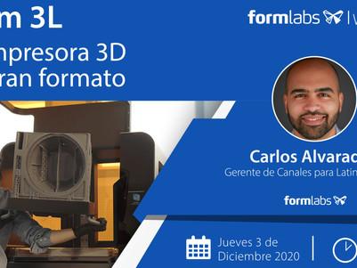WEBINAR: Conoce la nueva impresora 3D de gran formato, Form 3L