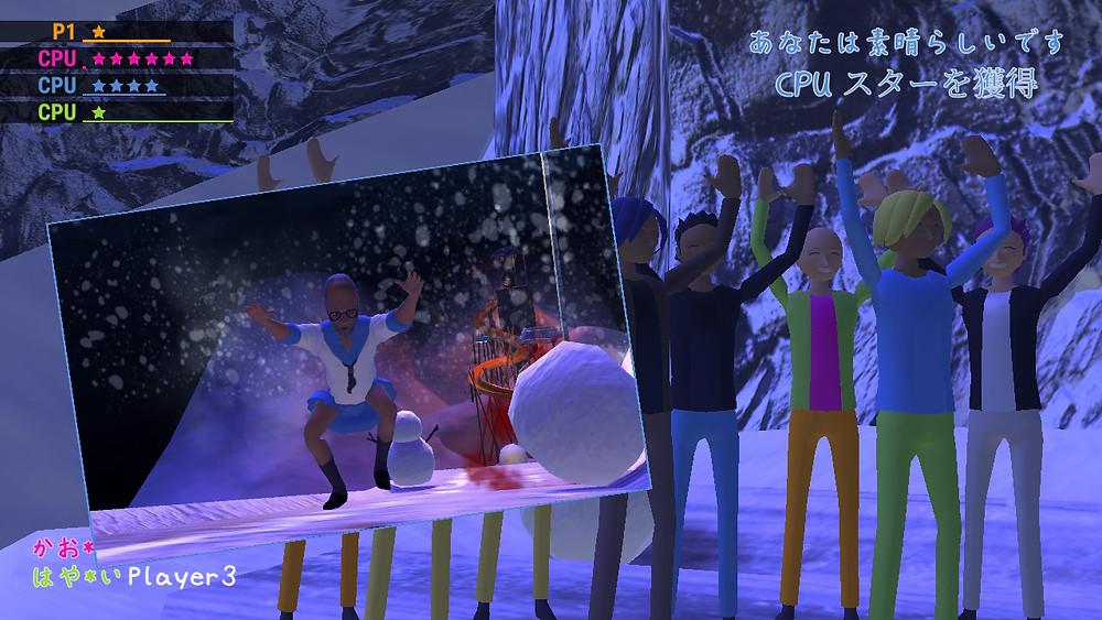 zenbei is shaken by an earthquake in the nippon marathon