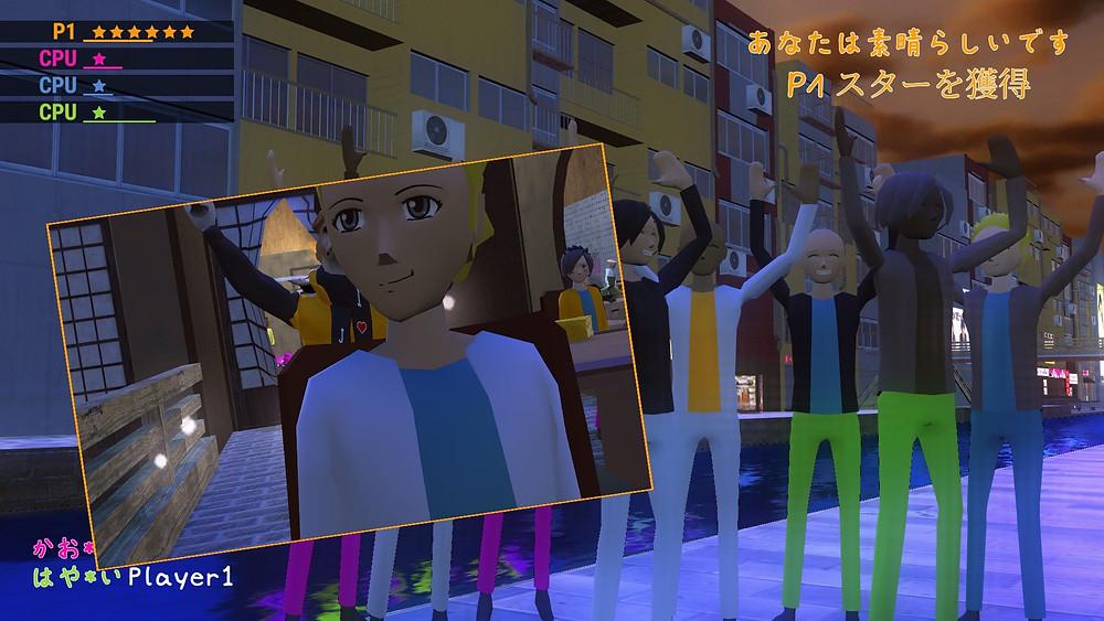 snuguru being photobombed by a fan in nippon marathon