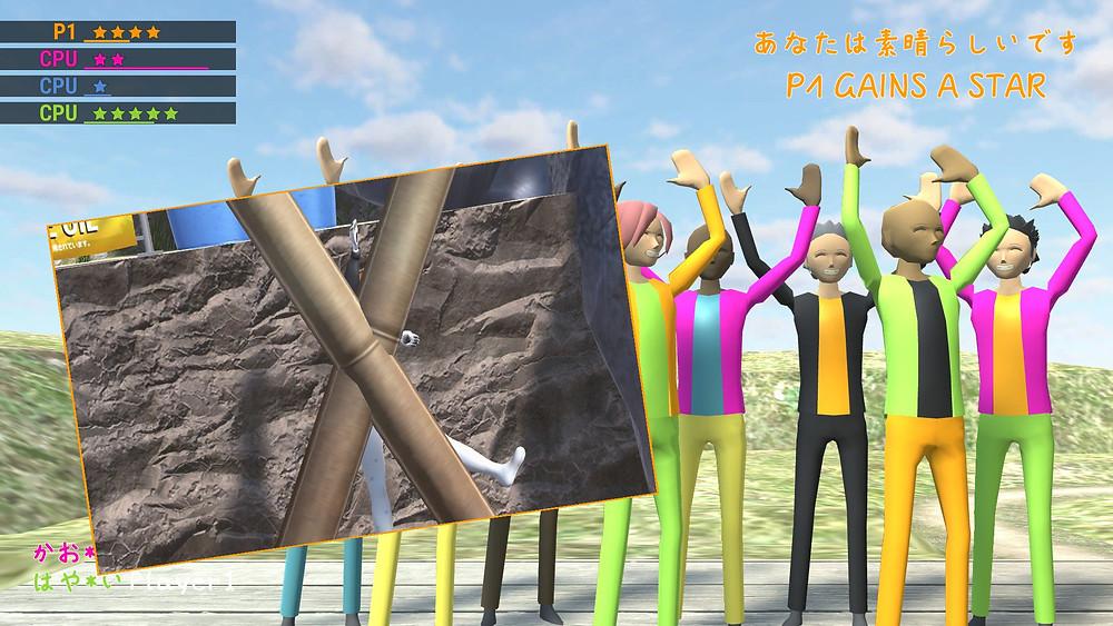 snuguru maestro is obstructed by a post in nippon marathon