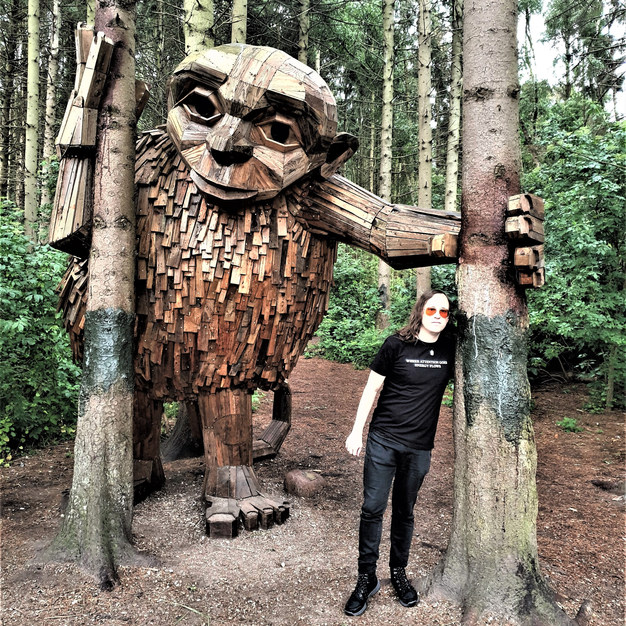 Bjørn on a hike meeting with this troll July 2020