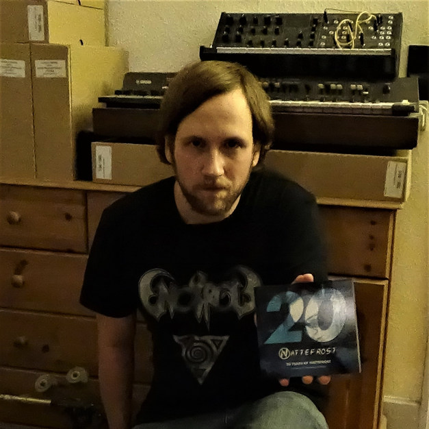 Posing with the Nattefrost tribute 2CD October 2015