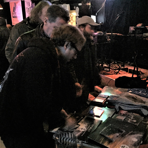 Nattefrost selling and signing albums in Oslo, Norway November 2017