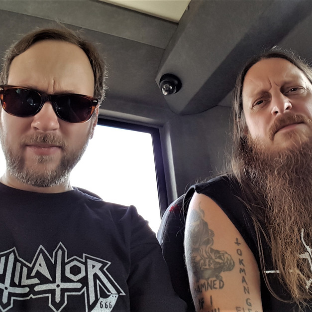 Fenriz (Darkthrone) & Bjørn in September 2015