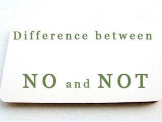 Difference between NO and NOT