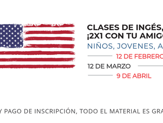 CLASES DE INGLÉS. CON TU AMIGO PAGAS MENOS.