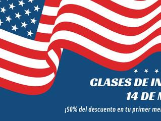 CLASES DE INGLÉS. 50% de DESCUENTO.