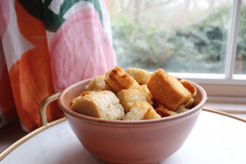 4 Ingredient Homemade Croutons...