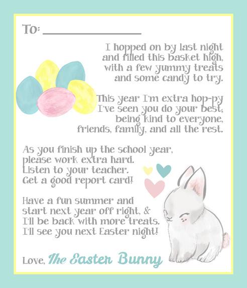 Easter Basket Tag Printable