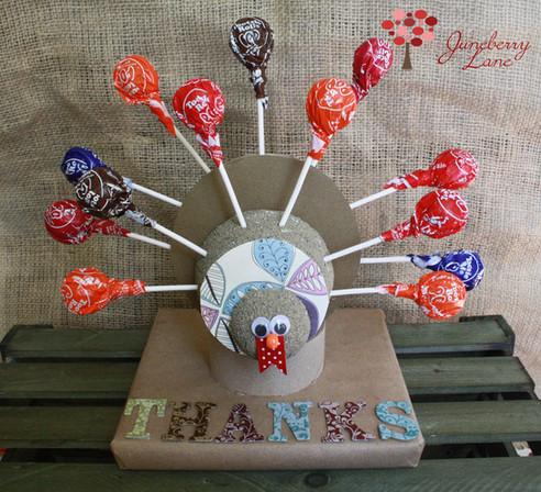 diy lollipop turkeys!!