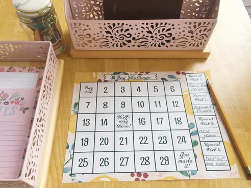 30 Day Challenge Free Printable