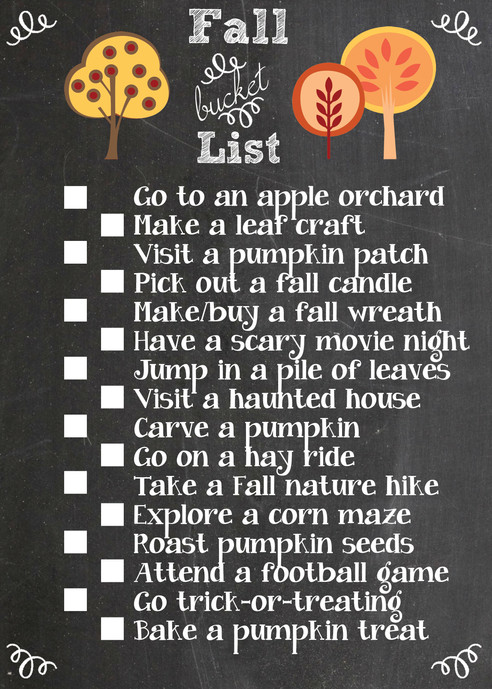 What's on Your Fall Bucket List?