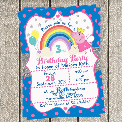 Peppa Pig Invitations!!