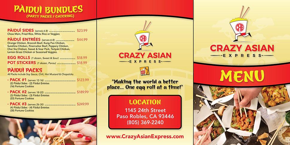 Crazy Asian Express Menu
