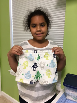 Sleep shorts for her cousin