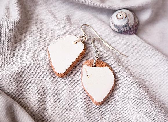 Highland//Painted terracotta sea pottery earrings