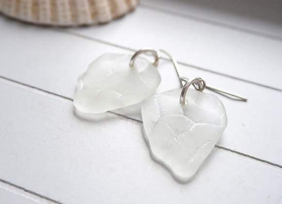 Highland//Patterned sea glass statement earrings