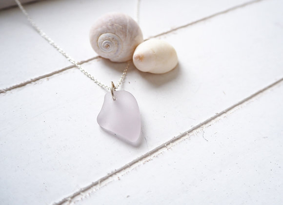 Highland//Pale lavender sea glass necklace