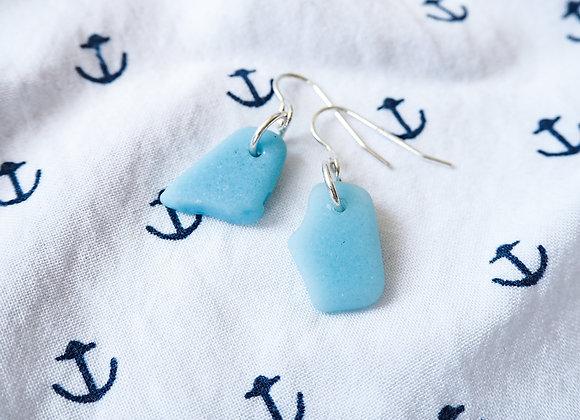 Andalucia//Pastel milk glass earrings