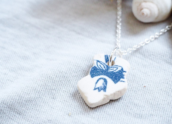 Highland//Flower sea pottery necklace