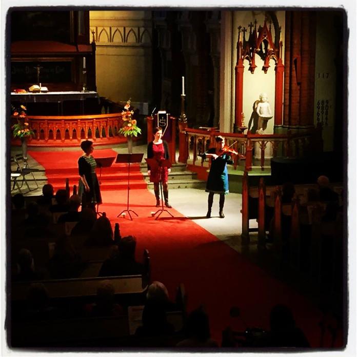 Konsert i Bragernes kirke i Drammen i mars