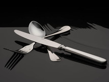 San Andrea Cutlery floating on water
