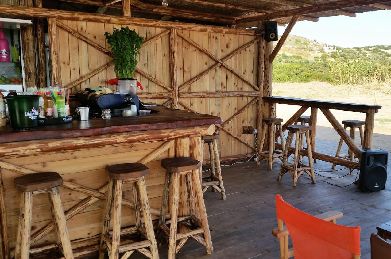 Bar από μασίφ πεύκο