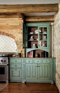 Κουζίνα σε στυλ rustic πράσινη