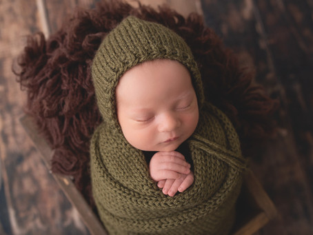 Baby Boy Hunter, Corona Newborn Photographer by Anisha Nicole