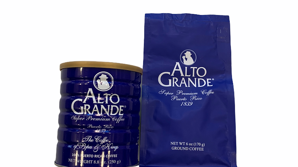 Alto Grande Premium Coffee 8.8oz y 6oz