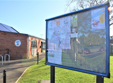 New Noticeboard Outside The Hall