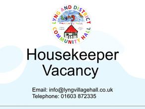 Part Time Housekeeper Vacancy
