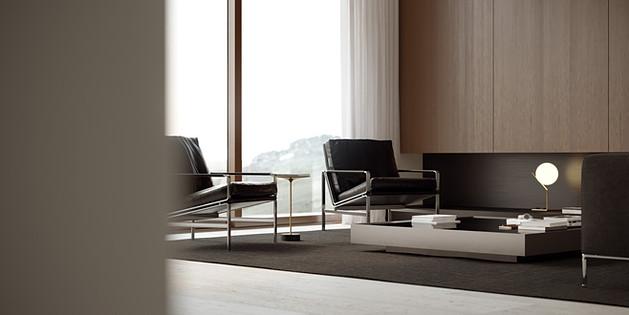 - Closeup. Modern interior -