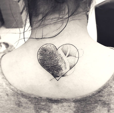 Heart tattoo with Finger impression