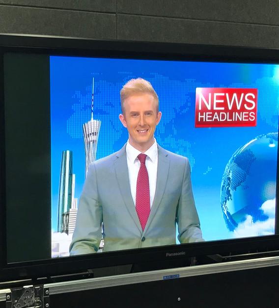 Hosting the news