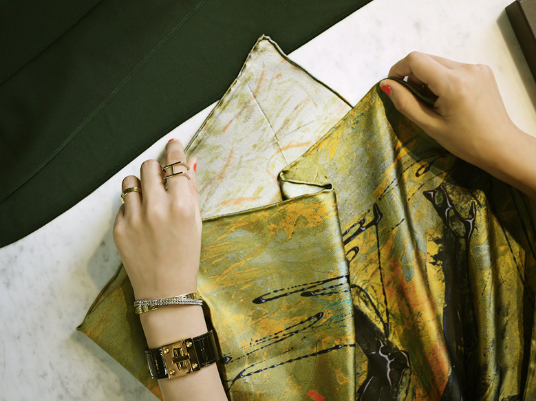 Collaboration scarf RENASON X JANE